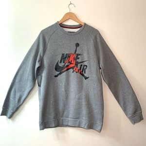 Nike Jordan Air Jumpman Crewneck Sweatshirt Grey